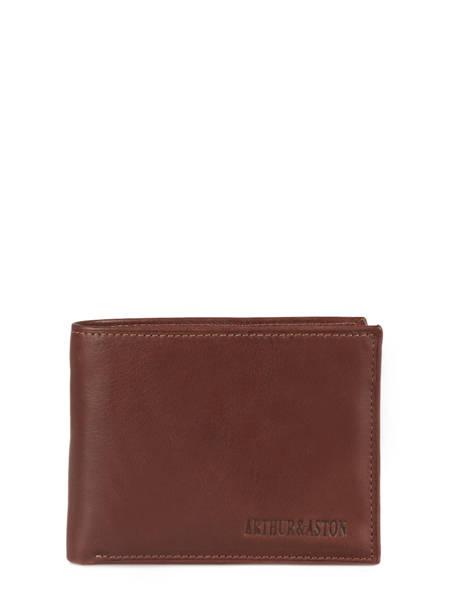 Wallet Leather Arthur et aston Brown jasper 1589-449