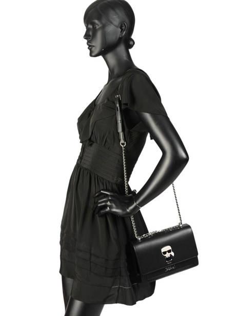 Leather K Ikonik Shoulder Bag Karl lagerfeld Black k ikonic 91KW3013 other view 2