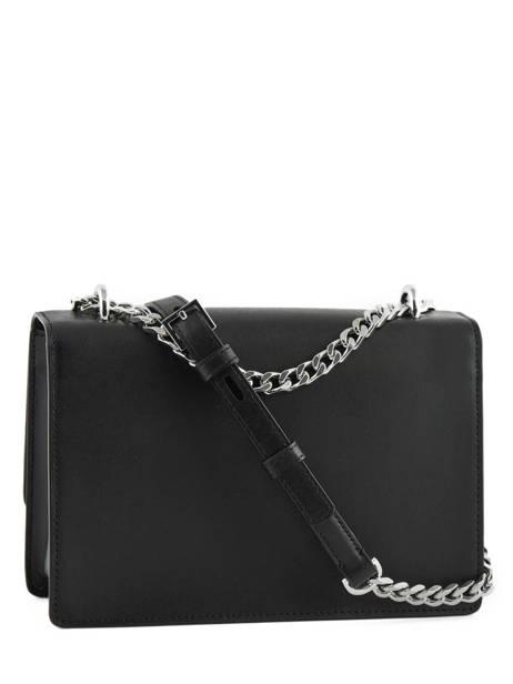 Leather K Ikonik Shoulder Bag Karl lagerfeld Black k ikonic 91KW3013 other view 3