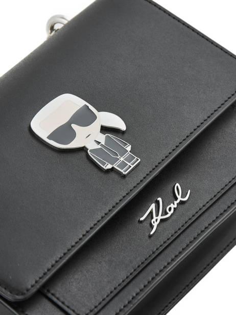 Leather K Ikonik Shoulder Bag Karl lagerfeld Black k ikonic 91KW3013 other view 1