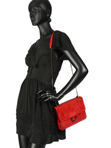Sac Bandoulière Velvet Milano Rouge velvet VE180602 vue secondaire 1