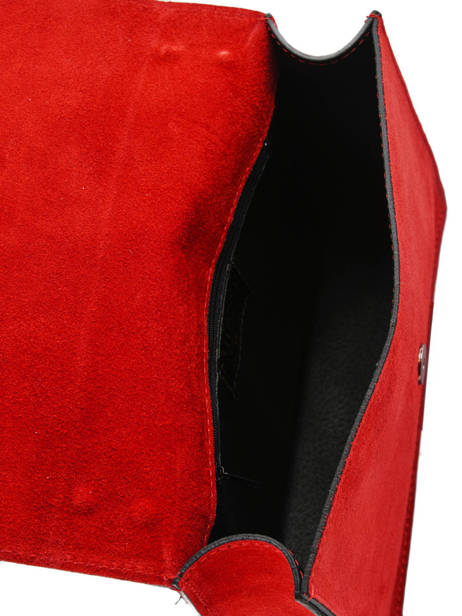 Sac Bandoulière Velvet Milano Rouge velvet VE180602 vue secondaire 3