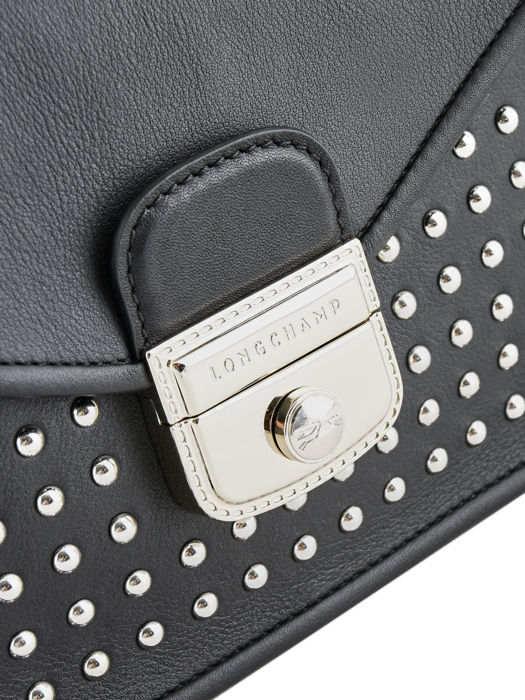 Longchamp Mademoiselle longchamp rock Sacs porté travers Noir