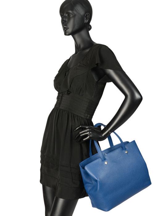 Longchamp Le foulonné Sacs porté main Bleu