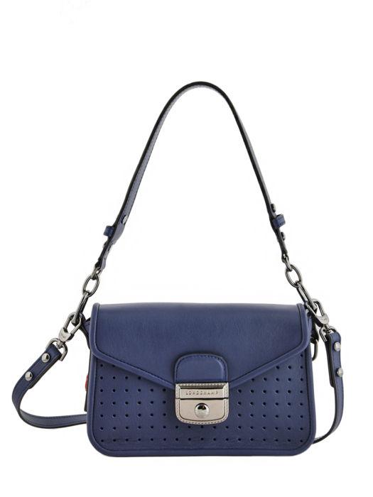 Longchamp Mademoiselle longchamp Sacs porté travers Bleu