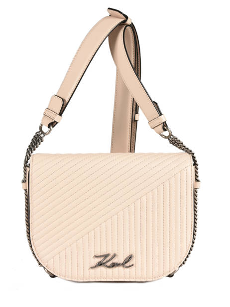 Sac Bandoulière Signature Quilted Cuir Karl lagerfeld Beige signature quilted 91KW3064