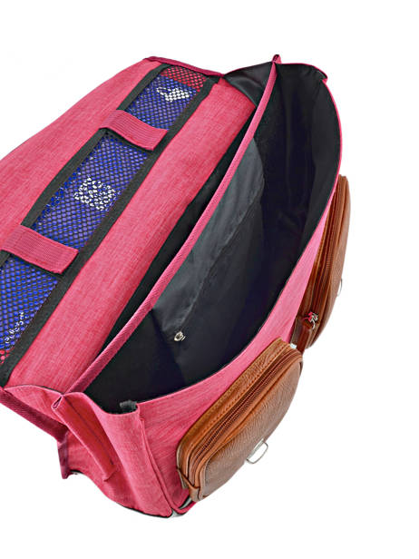 Satchel For Kids 2 Compartments Cameleon Pink vintage chine VIN-CA35 other view 4