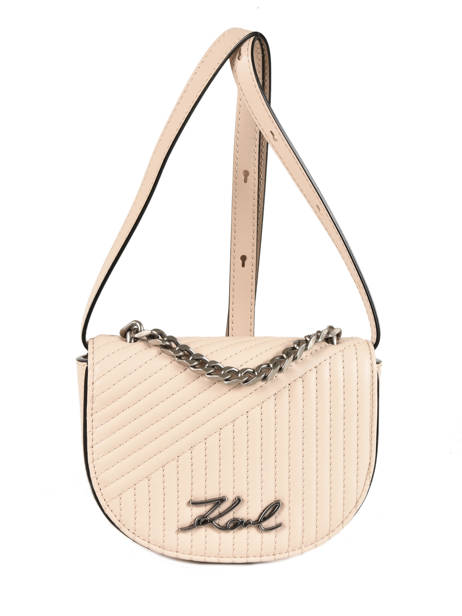 Sac Bandoulière Signature Quilted Cuir Karl lagerfeld Beige signature quilted 91KW3066