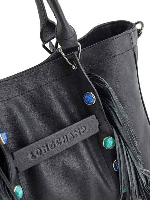 Longchamp Longchamp 3d pierre Sacs porté main Noir