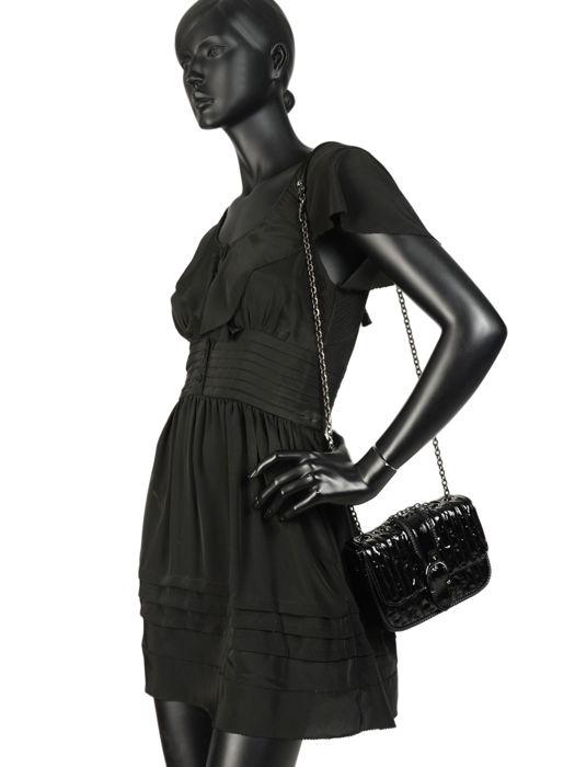 Longchamp Amazone matelassÉ vernis Besaces Noir