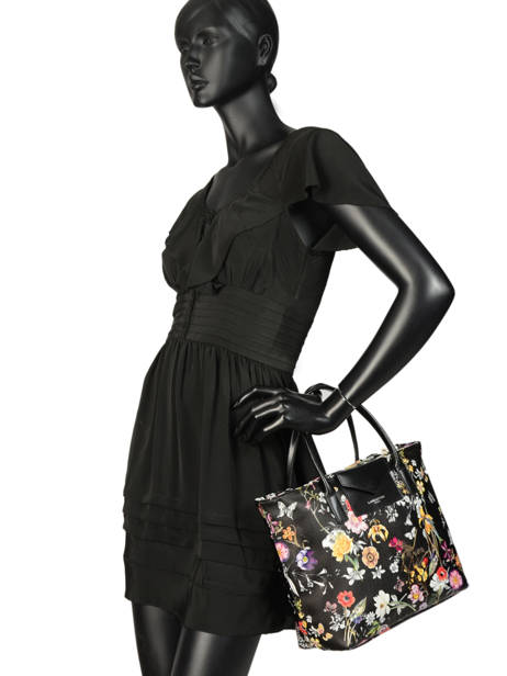 Sac Cabas Maya Exotic Flower Lancaster Noir maya exotic flower 517-69 vue secondaire 2