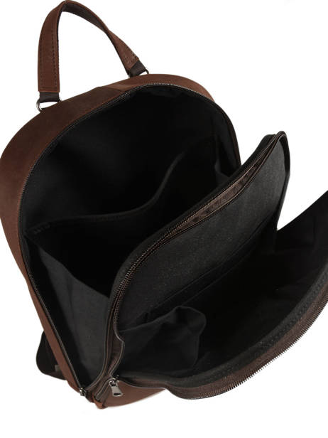 Backpack 2 Compartments Les ateliers foures Brown 9448 other view 4