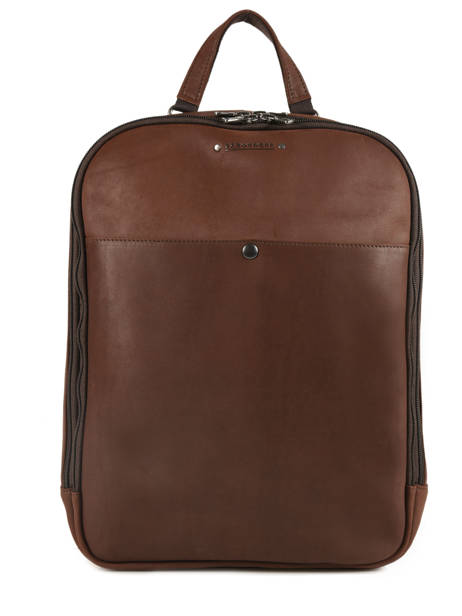 Backpack 2 Compartments Les ateliers foures Brown 9448