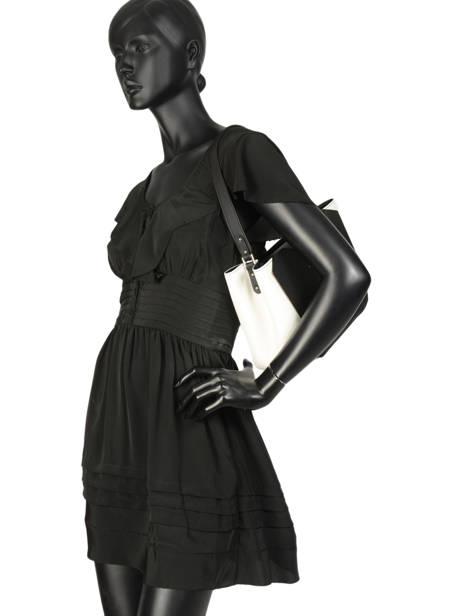 Sac Porté épaule Contrast Rachel Cuir Lancaster Noir contrast rachel 428-20 vue secondaire 2