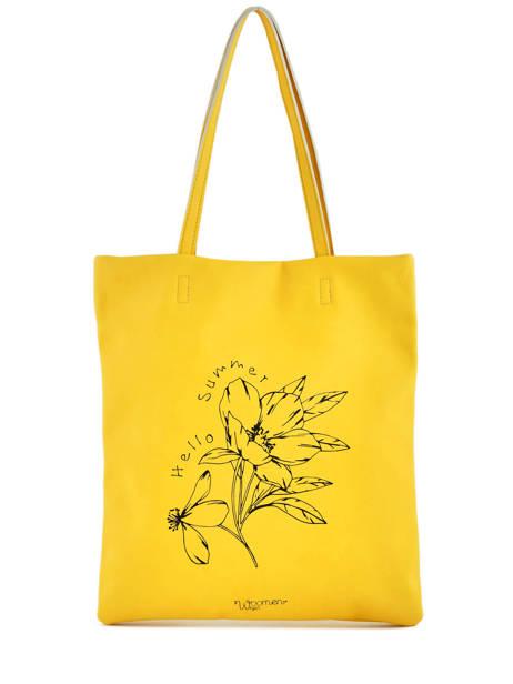 Sac Shopping Flat Bag Woomen Jaune flat bag WFLAT01