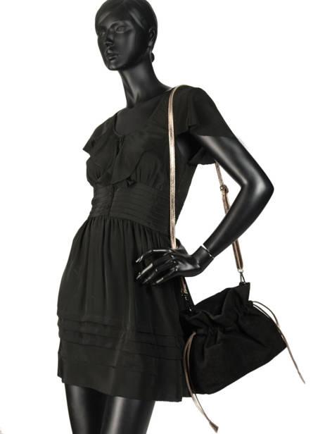 Crossbody Bag Velvet Leather Milano Black velvet VE31731 other view 1