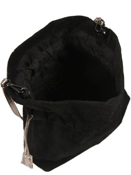 Crossbody Bag Velvet Leather Milano Black velvet VE31731 other view 3