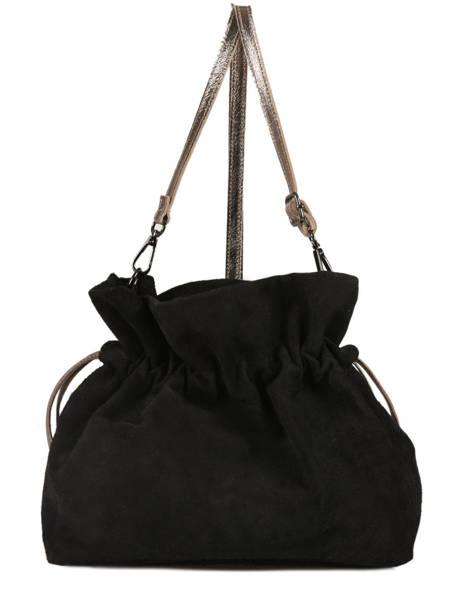 Crossbody Bag Velvet Leather Milano Black velvet VE31731 other view 2