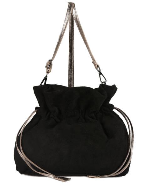 Crossbody Bag Velvet Leather Milano Black velvet VE31731