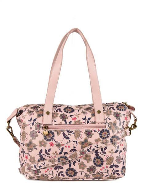 Sac Shopping Floral Lulu castagnette Rose floral KOLANTA vue secondaire 2