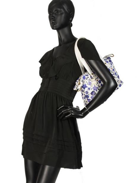 Sac Shopping Floral Lulu castagnette Bleu floral KOLANTA vue secondaire 1