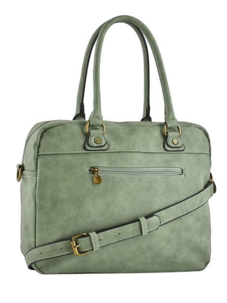 Sac Shopping Emblematique Lulu castagnette Vert emblematique KUMO vue secondaire 3