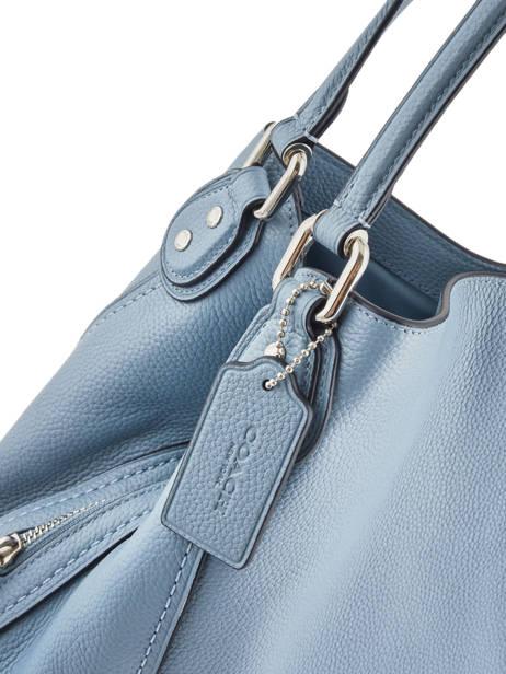 Sac Shopping Edie 31 Cuir Coach Bleu edie 57125 vue secondaire 1