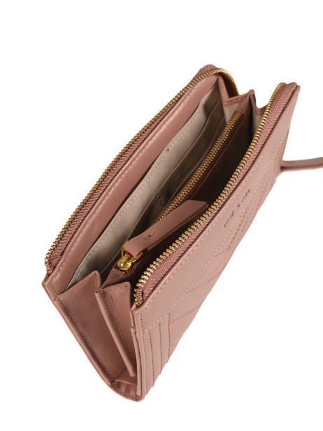 Wallet Leather Nat et nin Pink vintage LENA other view 1