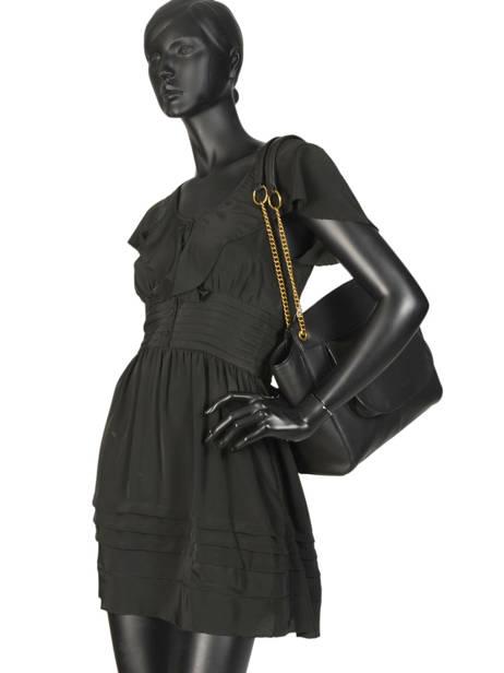Sac Claudie Cuir Nat et nin Noir vintage CLAUDIE vue secondaire 2