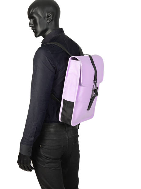 Backpack 1 Compartment + 13'' Pc Rains Black boston 1280 other view 2