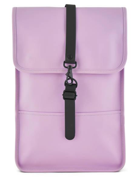 Backpack 1 Compartment + 13'' Pc Rains Black boston 1280
