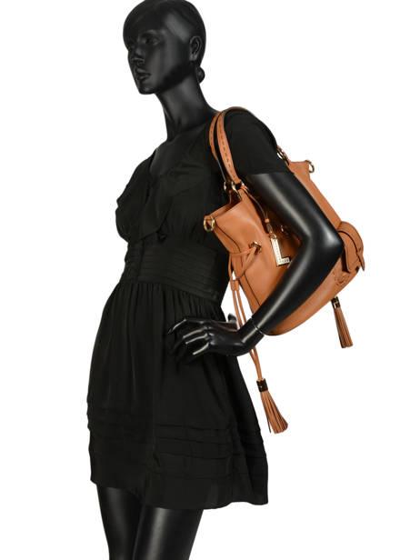 Medium Bucket Bag Premier Flirt Lancel Brown premier flirt A10110 other view 3