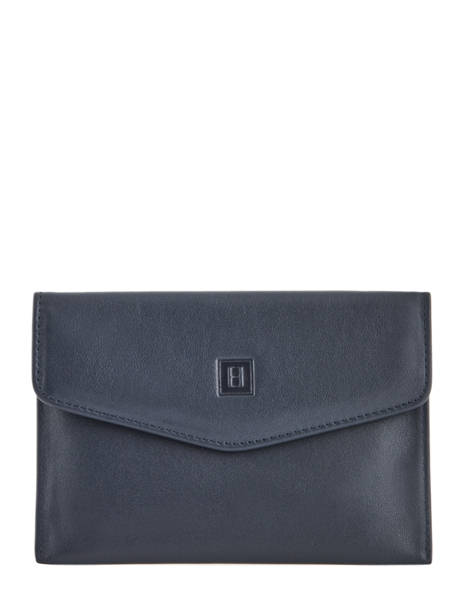 Leather Wallet Soft Hexagona Blue soft 227334