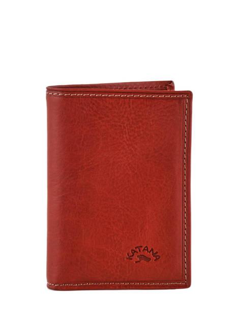 Card Holder Leather Katana Pink tampon 253038