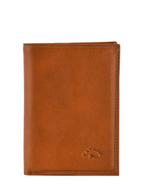 Wallet Leather Katana Brown tampon 253046
