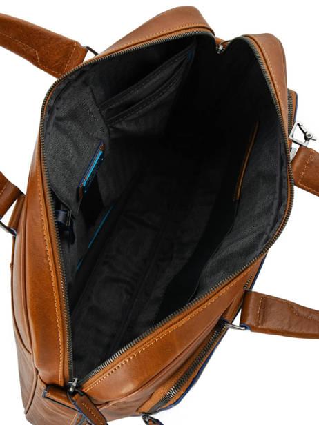 Porte-ordinateur 1 Compartiment + Pc 15'' Piquadro Marron black square CA4027B2 vue secondaire 4