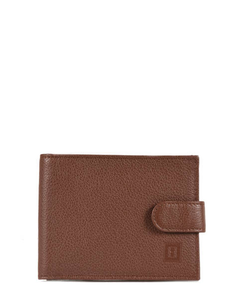 Wallet Leather Hexagona Brown confort 461050