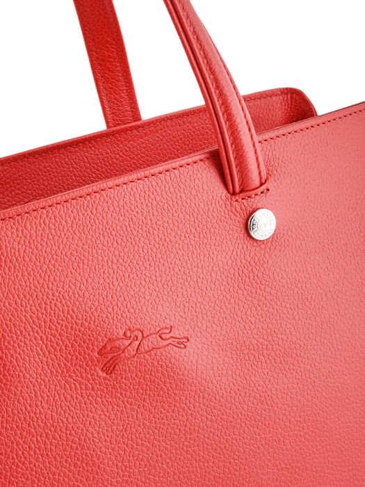 Longchamp Le foulonné Sacs porté main Rouge
