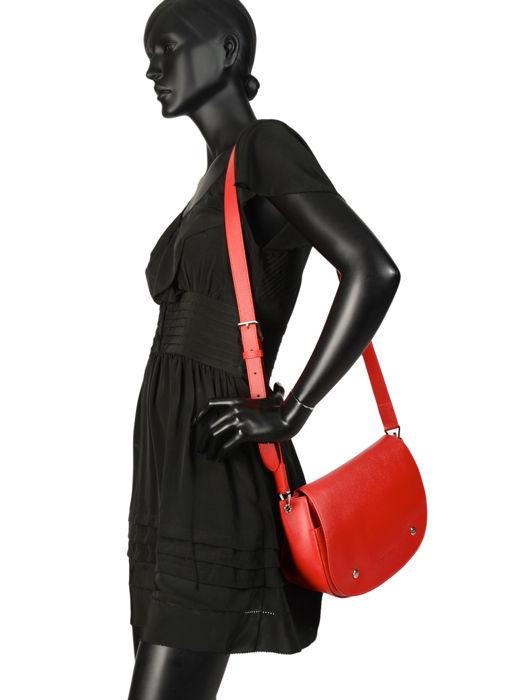 Longchamp Le foulonné Sacs porté travers Rouge