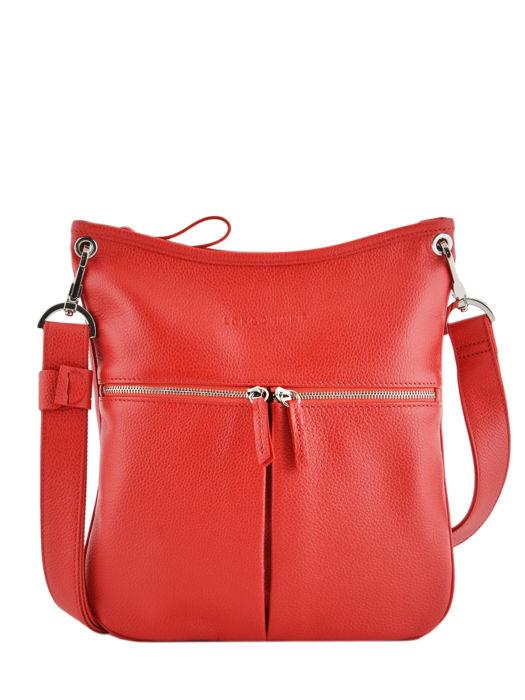 Longchamp Sacs porté travers Rouge