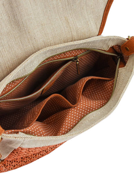Sac Besace Bernie Mila louise Orange paille 23687P2 vue secondaire 4