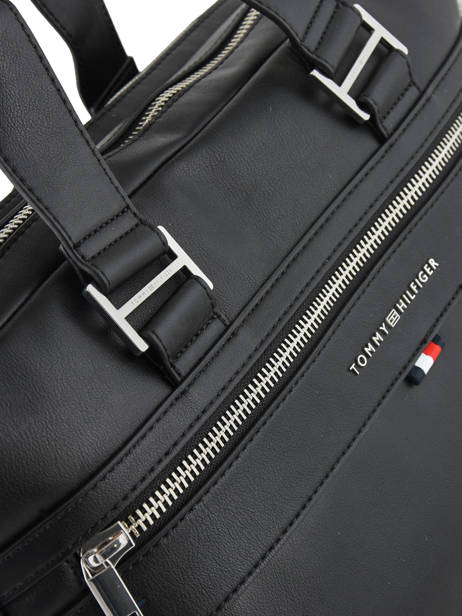 Briefcase 2 Compartments + 15'' Pc Tommy hilfiger Black elevated AM04659 other view 1