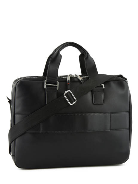 Briefcase 2 Compartments + 15'' Pc Tommy hilfiger Black elevated AM04659 other view 3