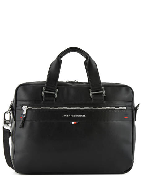 Briefcase 2 Compartments + 15'' Pc Tommy hilfiger Black elevated AM04659