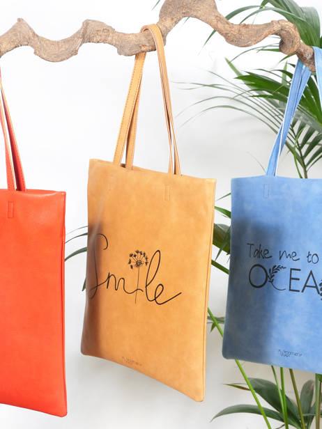 Sac Shopping Flat Bag Woomen Beige flat bag WFLAT01 vue secondaire 3