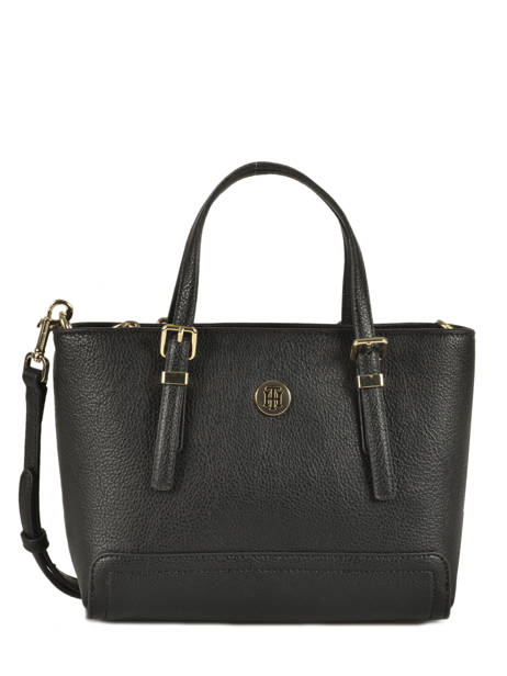 Sac Mini Cabas Honey Tommy hilfiger Noir honey AW06631