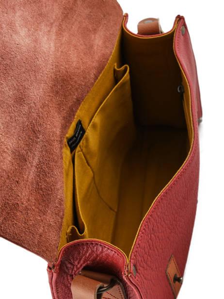 Shoulder Bag Vintage Leather Paul marius Red vintage INDISPEN other view 4