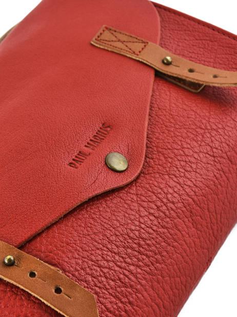 Shoulder Bag Vintage Leather Paul marius Red vintage INDISPEN other view 1