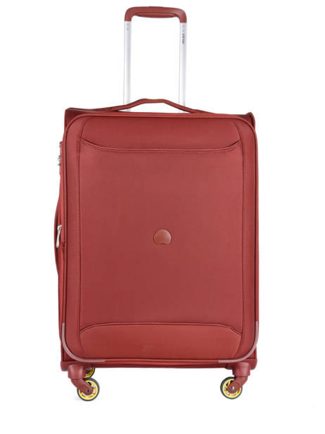 Valise Souple Extensible Chartreuse Delsey Rouge chartreuse 3673811