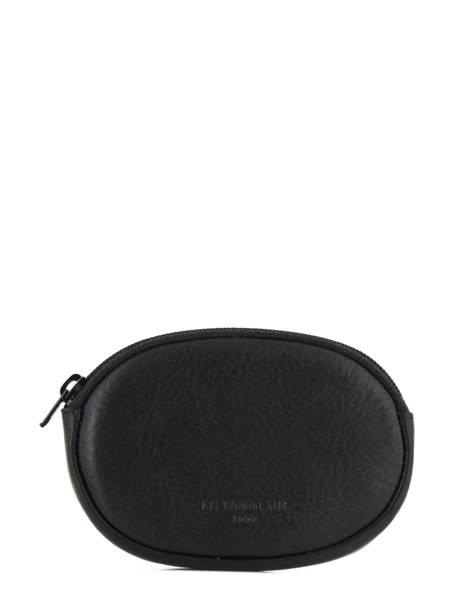 Purse Leather Le tanneur Black gary TRA3117